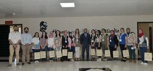 Rektör Akgül, yabancı uyruklu öğrencilerle görüştü