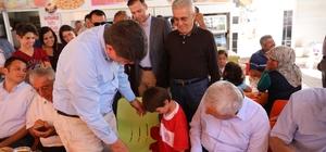 Türel, ilçe belediye başkanlarıyla Kaş'ta