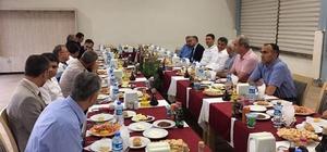 Tatvan'da komutanlara veda yemeği