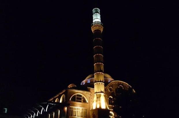 Şeyh Adil Cami'ne özel aydınlatma