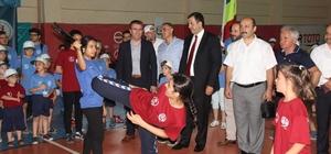 Vakfıkebir Belediyesinden  sporculara malzeme yardımı