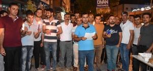 Kahta'da esnaf mum ile elektrik faturalarını protesto etti