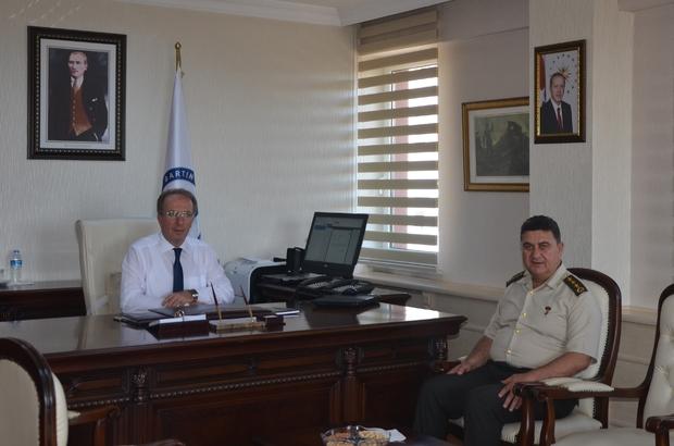 Bartın İl Jandarma Komutanından Rektör Uzun'a ziyaret