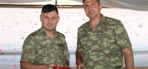 Kaymakam Turan'dan Oltu Garnizon Komutanı Yarbay Yıldız'a veda yemeği