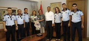 Başkan Pekdaş zabıta personelini ağırladı