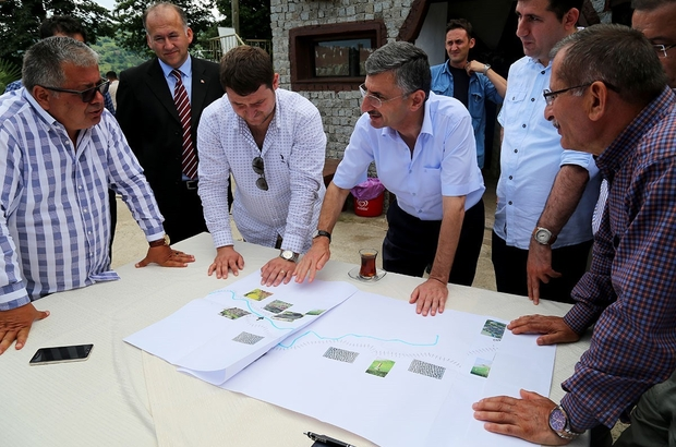 Rize Valisi Erdoğan Bektaş, İyidere ilçesinde incelemede bulundu.
