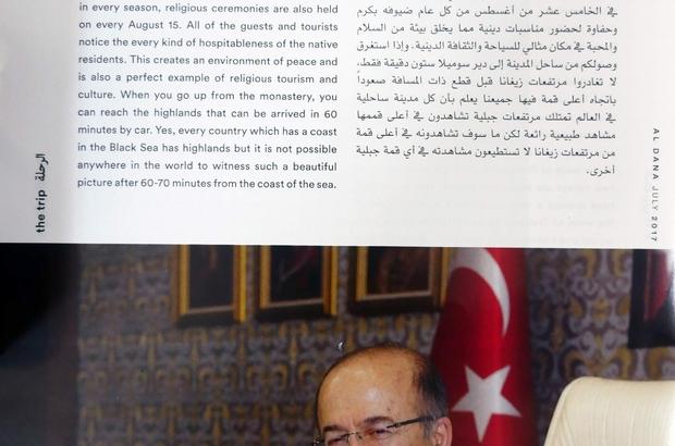 Katar Havayolları Dergisi'nde Trabzon'u anlattı