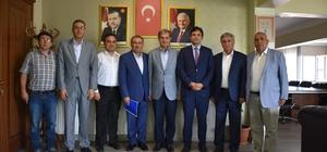 Kaymakam ve başkanlardan Başkan Avcu'ya ziyaret
