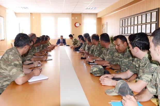 Vali Bilmez, Jandarma komutanları ile toplantı yaptı