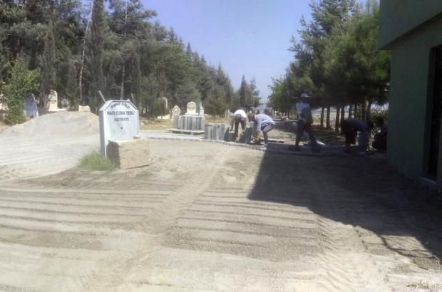 Kahramanmaraş'ta parke döşeme çalışmaları