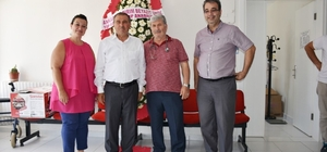 Bigadiç'te Başkan Avcu aile hekimlerini ziyaret etti