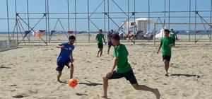 Plaj Futbolu Liginde eleme müsabakaları başladı