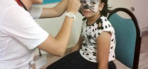 Çocuklara yüz boyama etkinliği