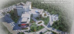 LüleburgazDevlet Hastanesi inşaatı devam ediyor