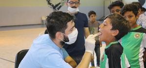 Akçakaleli çocuklara diş taraması