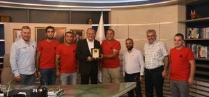 DÜSOF'dan Başkan Keleş'e teşekkür ziyareti