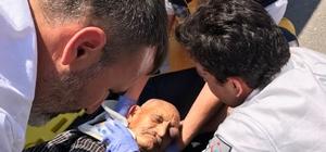 Motorsikletin çarptığı yaşlı adam yaralandı