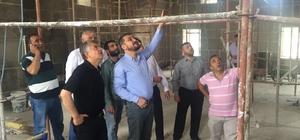 Milletvekili Açıkgöz tarihi caminin restorasyon yapımını inceledi