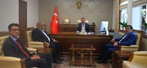 Güreş Federasyonu Başkanı Aydın'dan Vali Büyükakın'a ziyaret