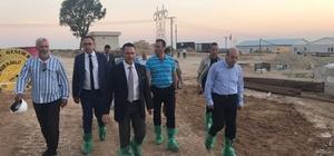 Vali Çiftçi, biyogaz enerji tesislerini inceledi