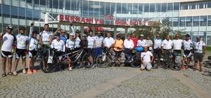 Görme engelli bisikletçiler uğurlandı