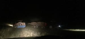 Sarıkamış'ta odun kaçakçıları yakalandı