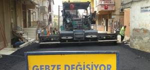 Gebze sokaklarında bakım çalışmaları sürüyor