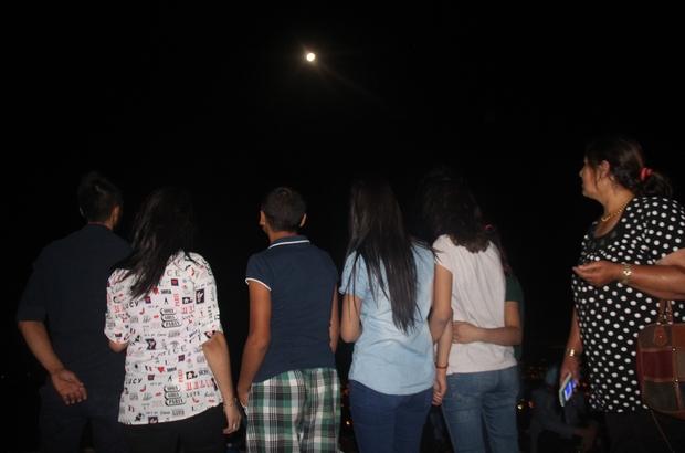 Harput manzarası eşliğinde ay tutulması