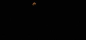 Tekirdağ'da ay tutulması ilgiyle izlendi