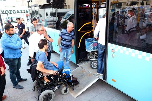 Yozgat'ta halk otobüsleri engelli vatandaşlar için yenilendi