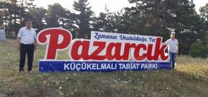 Pazaryeri Küçükelmalı Tabiat Parkı'na Pazarcık tabelası yerleştirildi