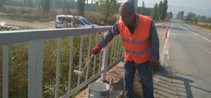 Karayollarındaki köprülerde bakım onarım çalışması