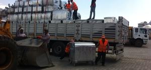 Çaldıran Belediyesi 650 adet çöp konteyneri aldı