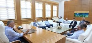 Başkan Toçoğlu, Adapazarıspor Kulübü ve SAGÜSAD'ı makamında ağırladı