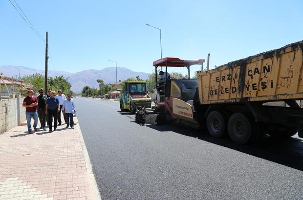 Şehit Albay Faruk Sungur Caddesinde asfalt çalışmaları
