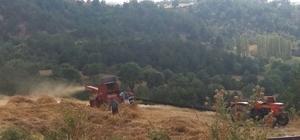 Hisarcık çiftçisi patoz makinelerinden vazgeçemiyor