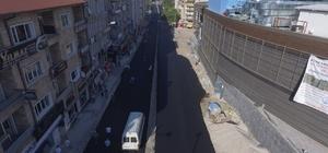 Milli İrade Caddesinde birinci kat sıcak asfaltlama tamamlandı