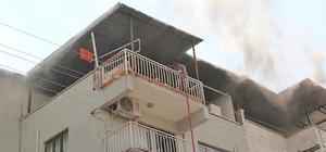 Aydın'da çatı yangını korkuttu