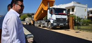 Bodrum'da asfalt çalışmaları devam ediyor