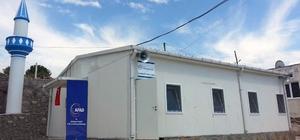Prefabrik camiler ibadete açıldı