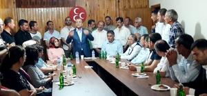 MHP İl Başkanı Topçu Mudanyalılarla buluştu