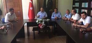 Başkan Cabbar ve Ak Parti İlçe Teşkilatı Kaymakam Duru'yu ziyaret etti