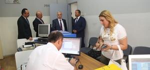 Vali Kamçı'dan Kocasinan ve Melikgazi İlçe Nüfus Müdürlüklerine ziyaret