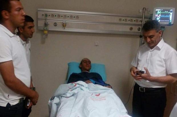 Kaymakam Özkan'dan yaralı askerlere ziyaret