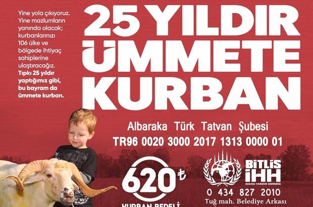 Bitlis İHH'dan 'Kurban Bağışı' kampanyası