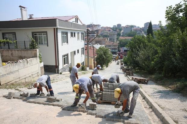 Bağlık Caddesi kilitli parke ile yenileniyor