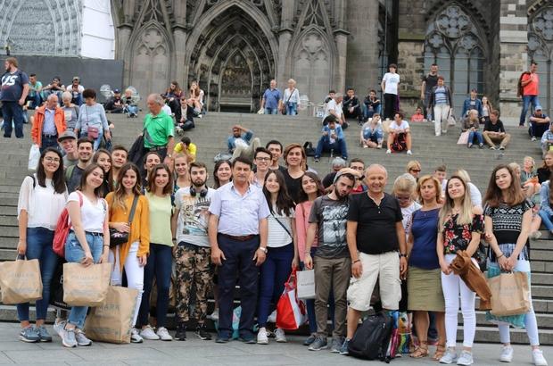 Giresunlu gençler Almanya'dan geldi