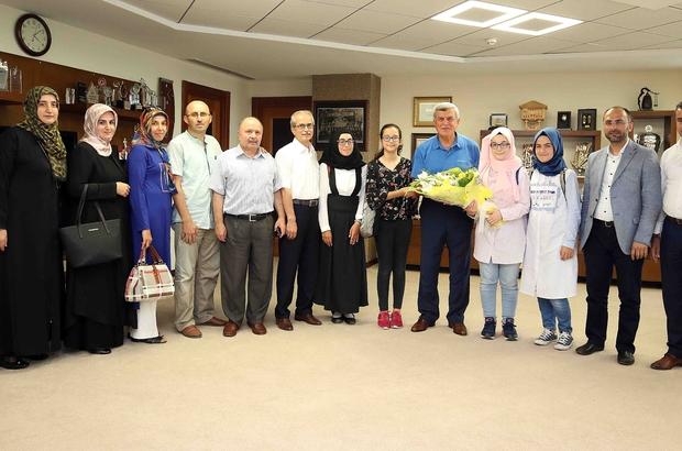 Evliya Çelebi  Ortaokulu, Başkan Karaosmanoğlu'nu ziyaret etti