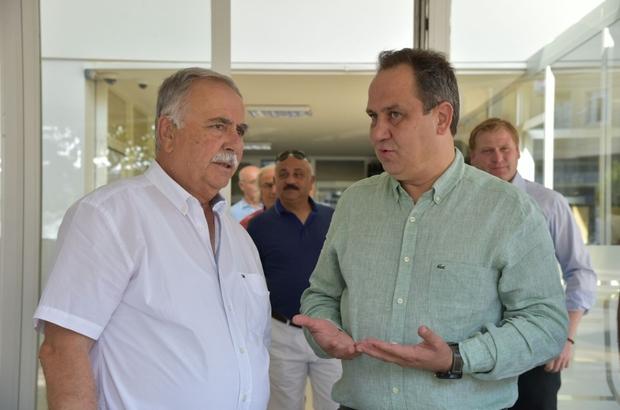 Giresun Belediye Başkası Aksu'dan Kardeş şehir Çanakkale Belediye Başkanı Gökhan'a ziyaret