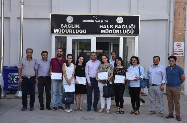 Mardin'de dereceye giren ASM çalışanları ödüllerini aldı